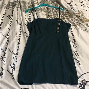 Green Kendall & Kylie Dress w/ Button Accent